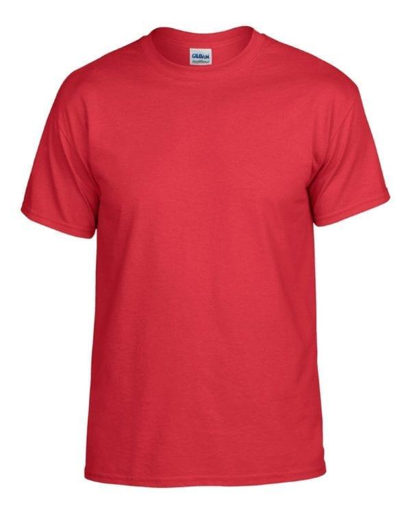 bulk custom shirts gildan g800 50-50 5.5 oz personlized t-shirts red