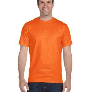 bulk custom shirts gildan g800 50-50 5.5 oz personlized t-shirts safety orange