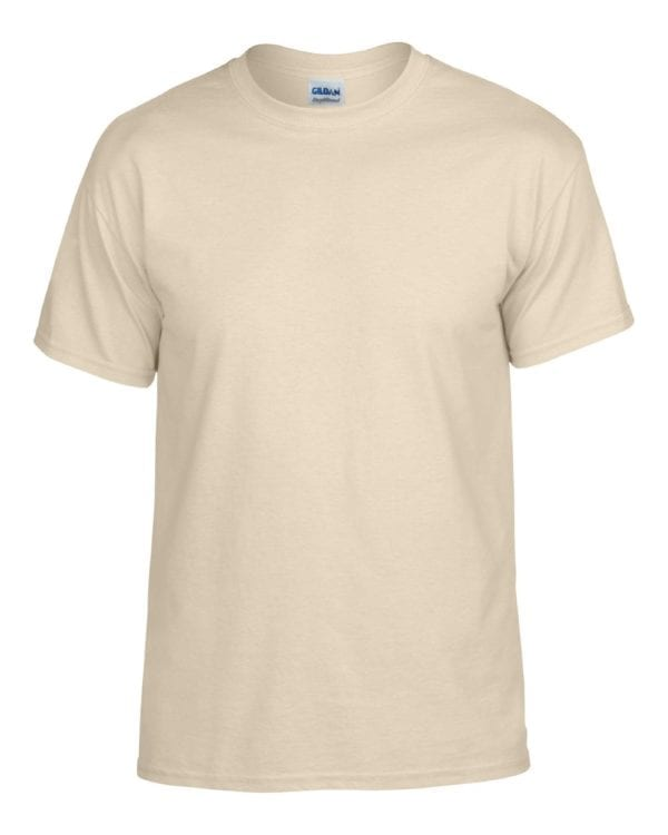 bulk custom shirts gildan g800 50-50 5.5 oz personlized t-shirts sand