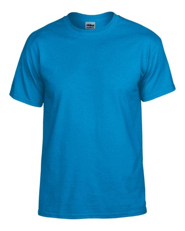 bulk custom shirts gildan g800 50-50 5.5 oz personlized t-shirts sapphire