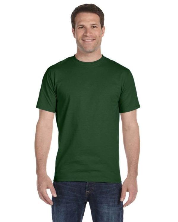 bulk custom shirts gildan g800 50-50 5.5 oz personlized t-shirts sport dark green