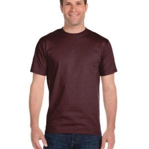 bulk custom shirts gildan g800 50-50 5.5 oz personlized t-shirts sport dark maroon