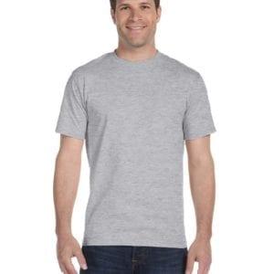 bulk custom shirts gildan g800 50-50 5.5 oz personlized t-shirts sport grey