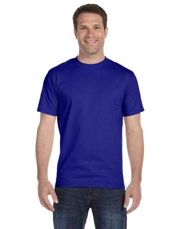 bulk custom shirts gildan g800 50-50 5.5 oz personlized t-shirts sport royal