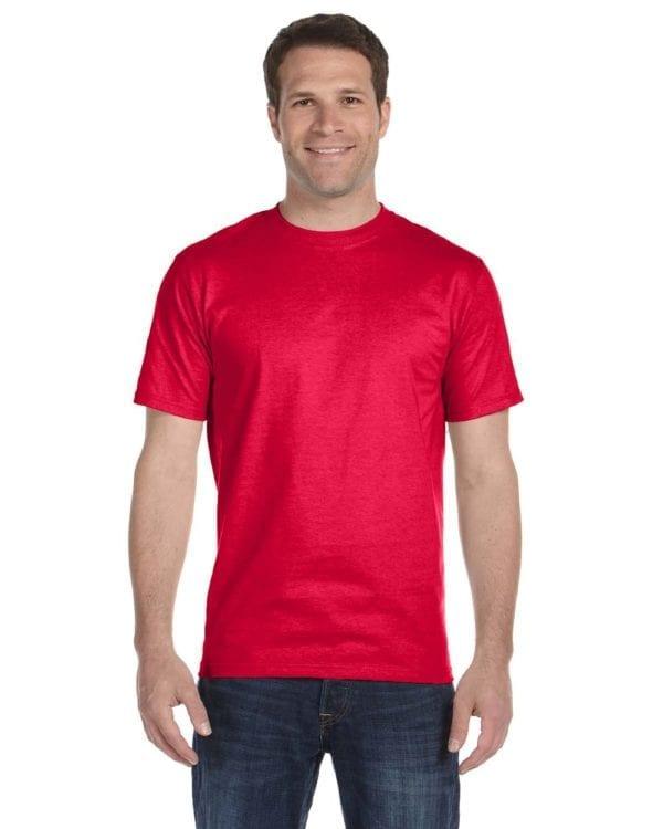 bulk custom shirts gildan g800 50-50 5.5 oz personlized t-shirts sport scarlet red