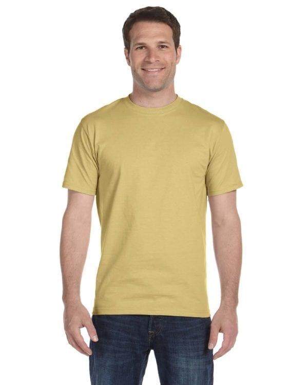 bulk custom shirts gildan g800 50-50 5.5 oz personlized t-shirts tan