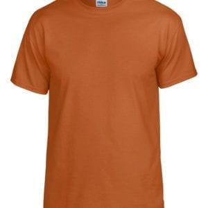 bulk custom shirts gildan g800 50-50 5.5 oz personlized t-shirts tx orange