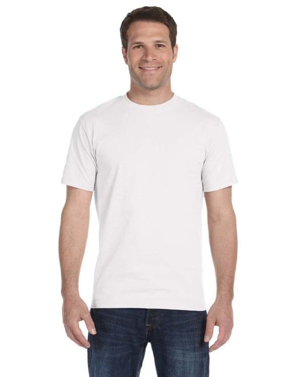 bulk custom shirts gildan g800 50-50 5.5 oz personlized t-shirts white