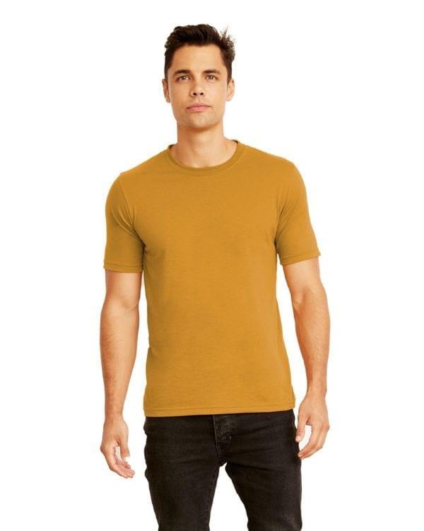 bulk custom shirts next level 3600 unisex cotton 4.3 oz custom t shirt antique gold