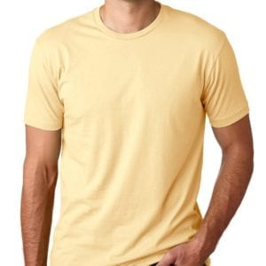 bulk custom shirts next level 3600 unisex cotton 4.3 oz custom t shirt banana cream