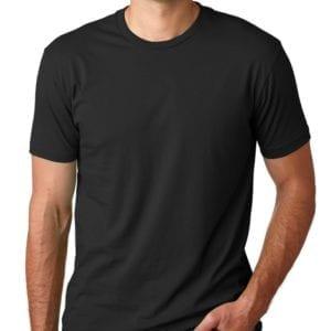 bulk custom shirts next level 3600 unisex cotton 4.3 oz custom t shirt black