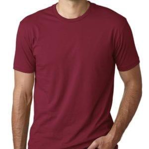 bulk custom shirts next level 3600 unisex cotton 4.3 oz custom t shirt cardinal red