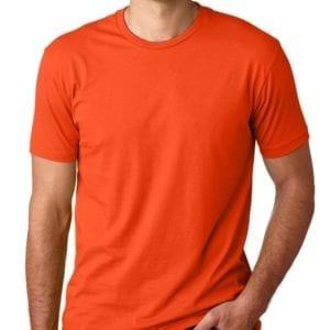 bulk custom shirts next level 3600 unisex cotton 4.3 oz custom t shirt classic orange