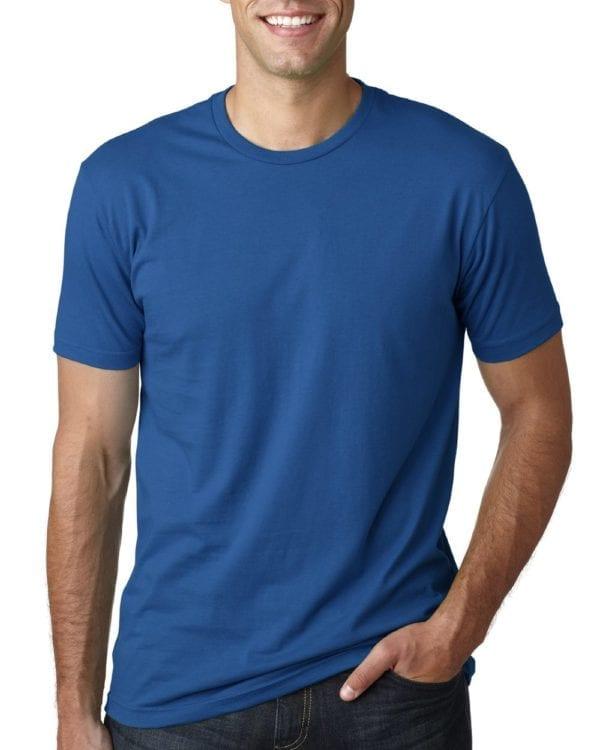 bulk custom shirts next level 3600 unisex cotton 4.3 oz custom t shirt cool blue