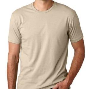 bulk custom shirts next level 3600 unisex cotton 4.3 oz custom t shirt cream