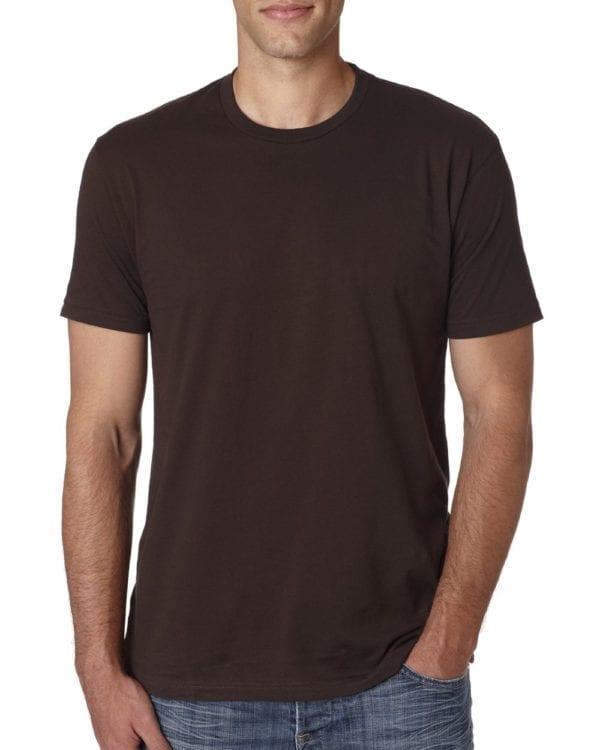 bulk custom shirts next level 3600 unisex cotton 4.3 oz custom t shirt dark chocolate