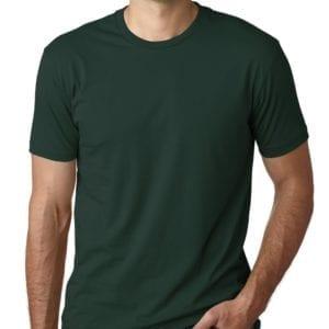 bulk custom shirts next level 3600 unisex cotton 4.3 oz custom t shirt forest green
