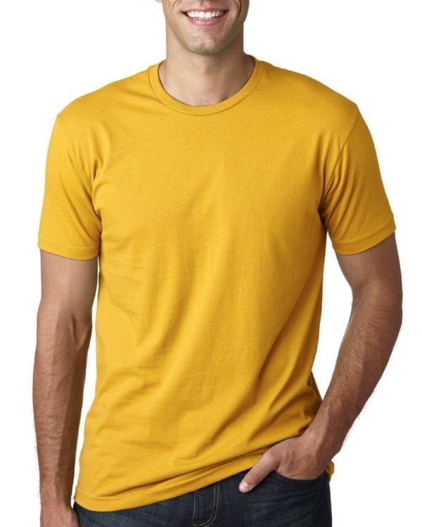 bulk custom shirts next level 3600 unisex cotton 4.3 oz custom t shirt gold