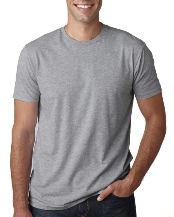 bulk custom shirts next level 3600 unisex cotton 4.3 oz custom t shirt heather grey