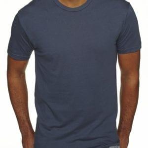 bulk custom shirts next level 3600 unisex cotton 4.3 oz custom t shirt indigo