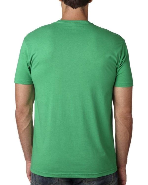 bulk custom shirts next level 3600 unisex cotton 4.3 oz custom t shirt kelly back
