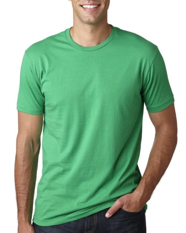 bulk custom shirts next level 3600 unisex cotton 4.3 oz custom t shirt kelly green
