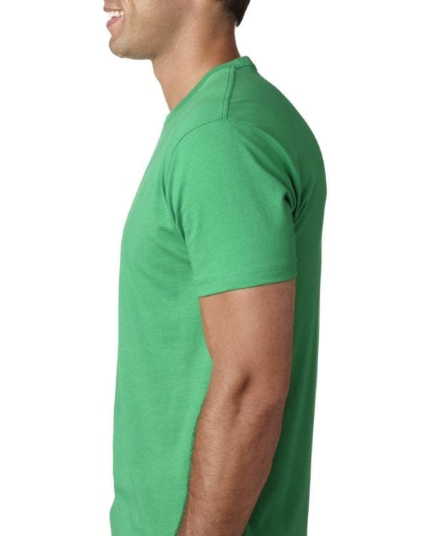 bulk custom shirts next level 3600 unisex cotton 4.3 oz custom t shirt kelly side