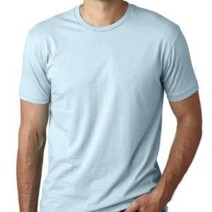 bulk custom shirts next level 3600 unisex cotton 4.3 oz custom t shirt light blue