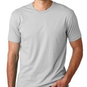 bulk custom shirts next level 3600 unisex cotton 4.3 oz custom t shirt light grey
