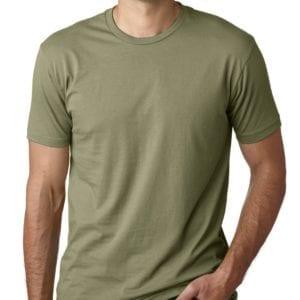 bulk custom shirts next level 3600 unisex cotton 4.3 oz custom t shirt light olive
