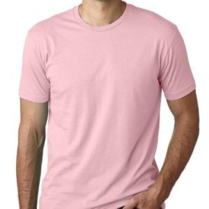 bulk custom shirts next level 3600 unisex cotton 4.3 oz custom t shirt light pink