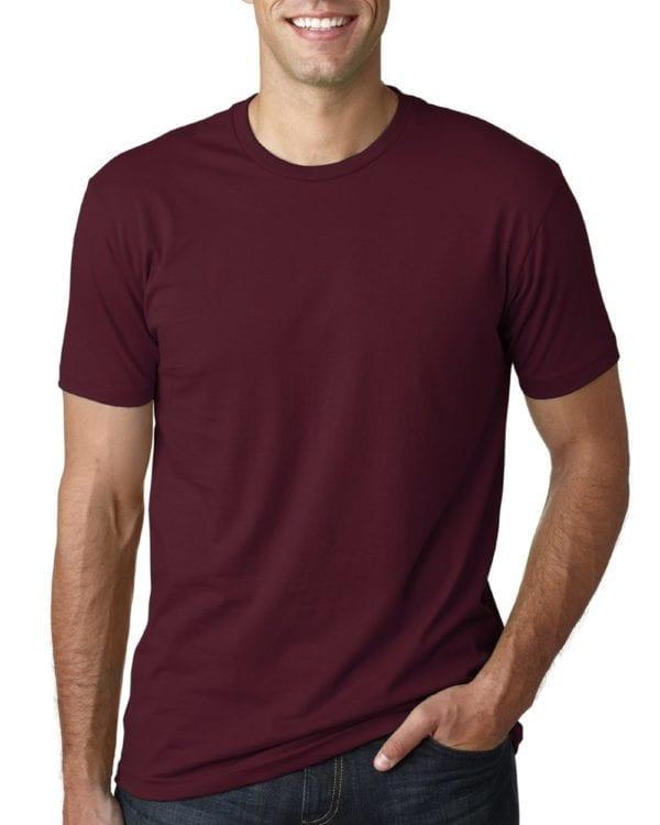 bulk custom shirts next level 3600 unisex cotton 4.3 oz custom t shirt maroon