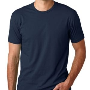 bulk custom shirts next level 3600 unisex cotton 4.3 oz custom t shirt midnight navy