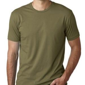 bulk custom shirts next level 3600 unisex cotton 4.3 oz custom t shirt military green