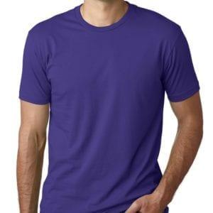 bulk custom shirts next level 3600 unisex cotton 4.3 oz custom t shirt purple rush