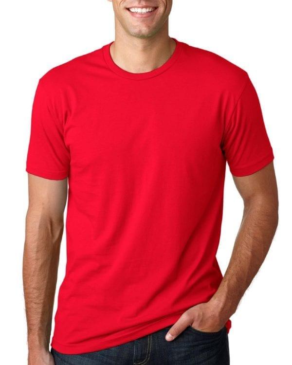 bulk custom shirts next level 3600 unisex cotton 4.3 oz custom t shirt red