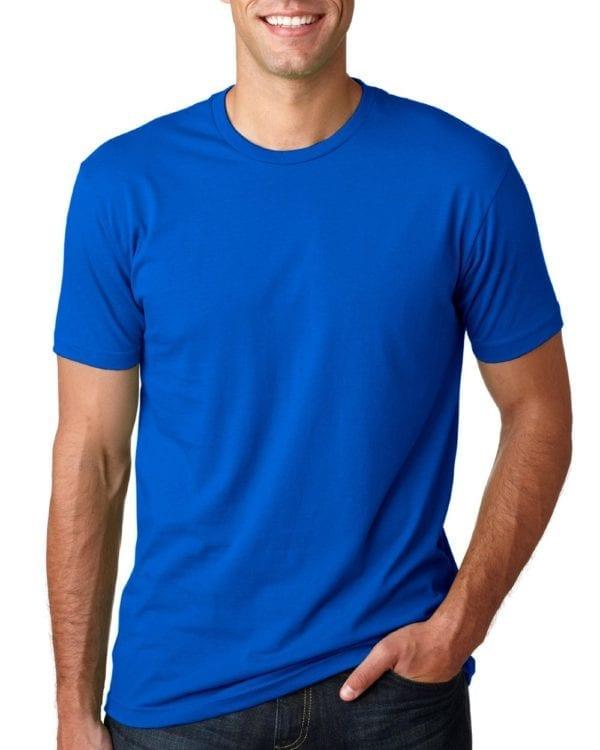 bulk custom shirts next level 3600 unisex cotton 4.3 oz custom t shirt royal