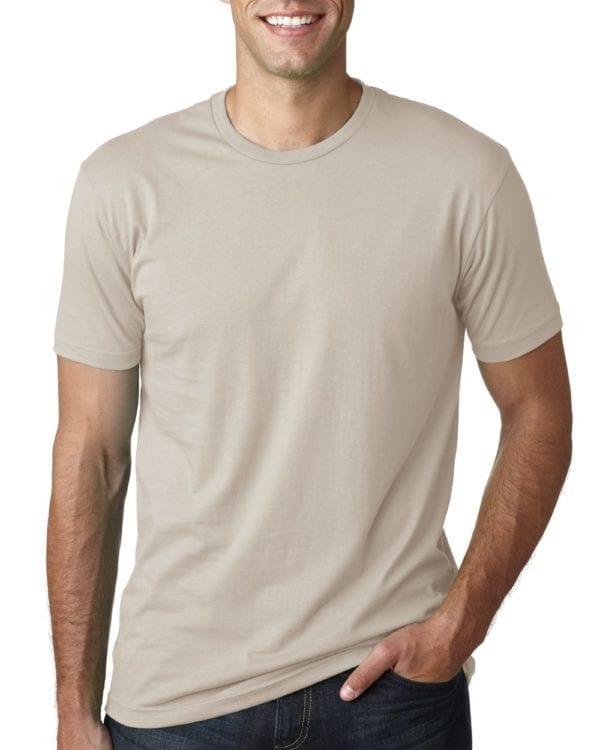 bulk custom shirts next level 3600 unisex cotton 4.3 oz custom t shirt sand