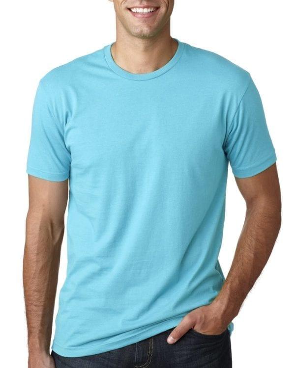 bulk custom shirts next level 3600 unisex cotton custom t shirt tahiti blue
