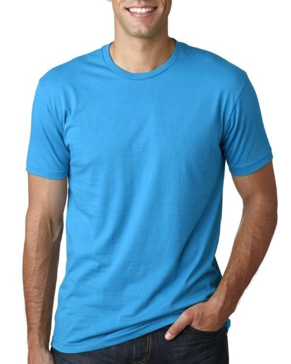 bulk custom shirts next level 3600 unisex cotton 4.3 oz custom t shirt turquoise
