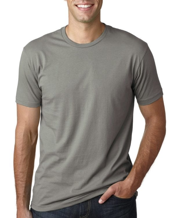 bulk custom shirts next level 3600 unisex cotton 4.3 oz custom t shirt warm grey