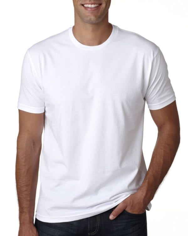 bulk custom shirts next level 3600 unisex cotton 4.3 oz custom t shirt white