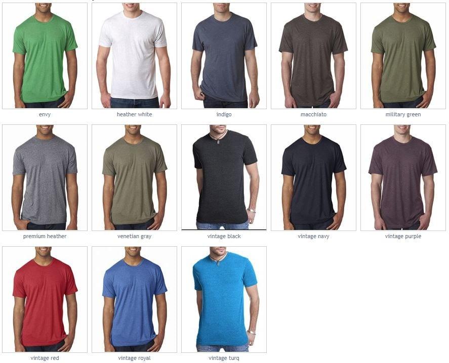 d9b1f4ea next level 6010 triblend crew shirt color watch · bulk custom shirts next  level 6010 custom triblend ...
