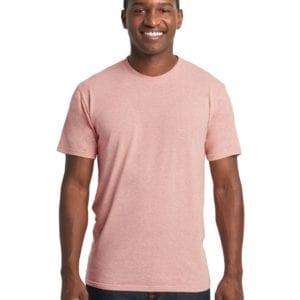 bulk custom shirts next level 6010 custom triblend crew 4.3 oz t shirt desert pink