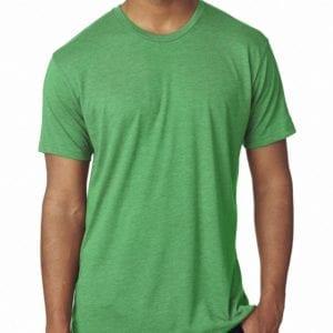 bulk custom shirts next level 6010 custom triblend crew 4.3 oz t shirt envy