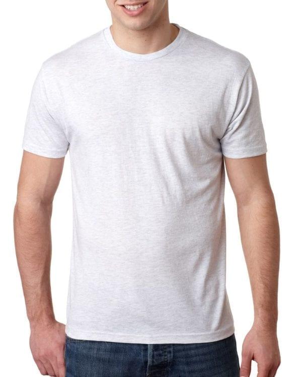 bulk custom shirts next level 6010 custom triblend crew 4.3 oz t shirt heather white