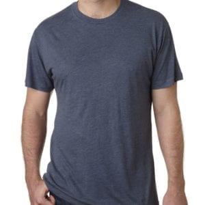 bulk custom shirts next level 6010 custom triblend crew 4.3 oz t shirt indigo