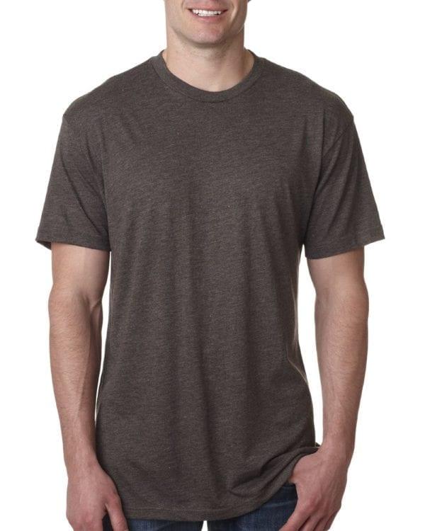 bulk custom shirts next level 6010 custom triblend crew 4.3 oz t shirt macchiato