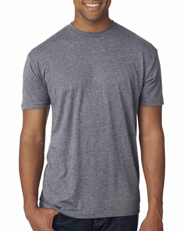 bulk custom shirts next level 6010 custom triblend crew 4.3 oz t shirt premium heather
