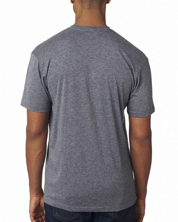 bulk custom shirts next level 6010 custom triblend crew 4.3 oz t shirt premium heather back